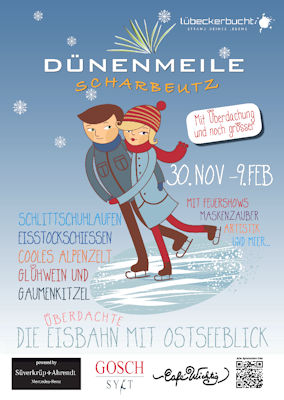 Plakat Dünenmeile on Ice Scharbeutz